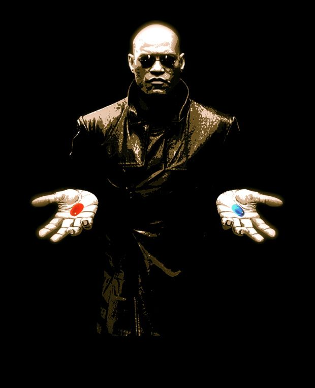 Morpheus The Matrix Red Pill Blue Pill Quote